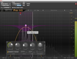Adjusting the crossover points in FabFilter's Pro-MB multiband compressor