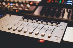 Faders on a control surface