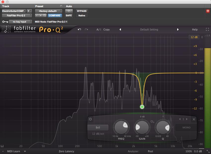 FabFilter's Pro-Q 2 plugin
